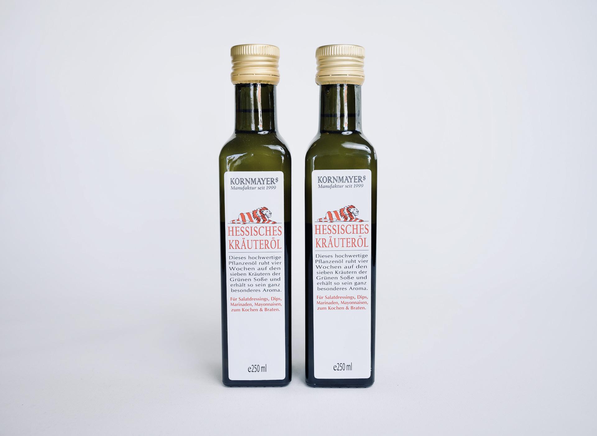 Hessisches Kräuteröl, Kornmayer, Kornmayers, Hessische Spezialität