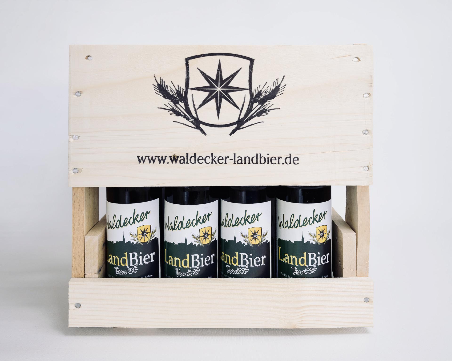 Waldecker Landbier, Waldecker Bier, Bierkiste, Holzkiste