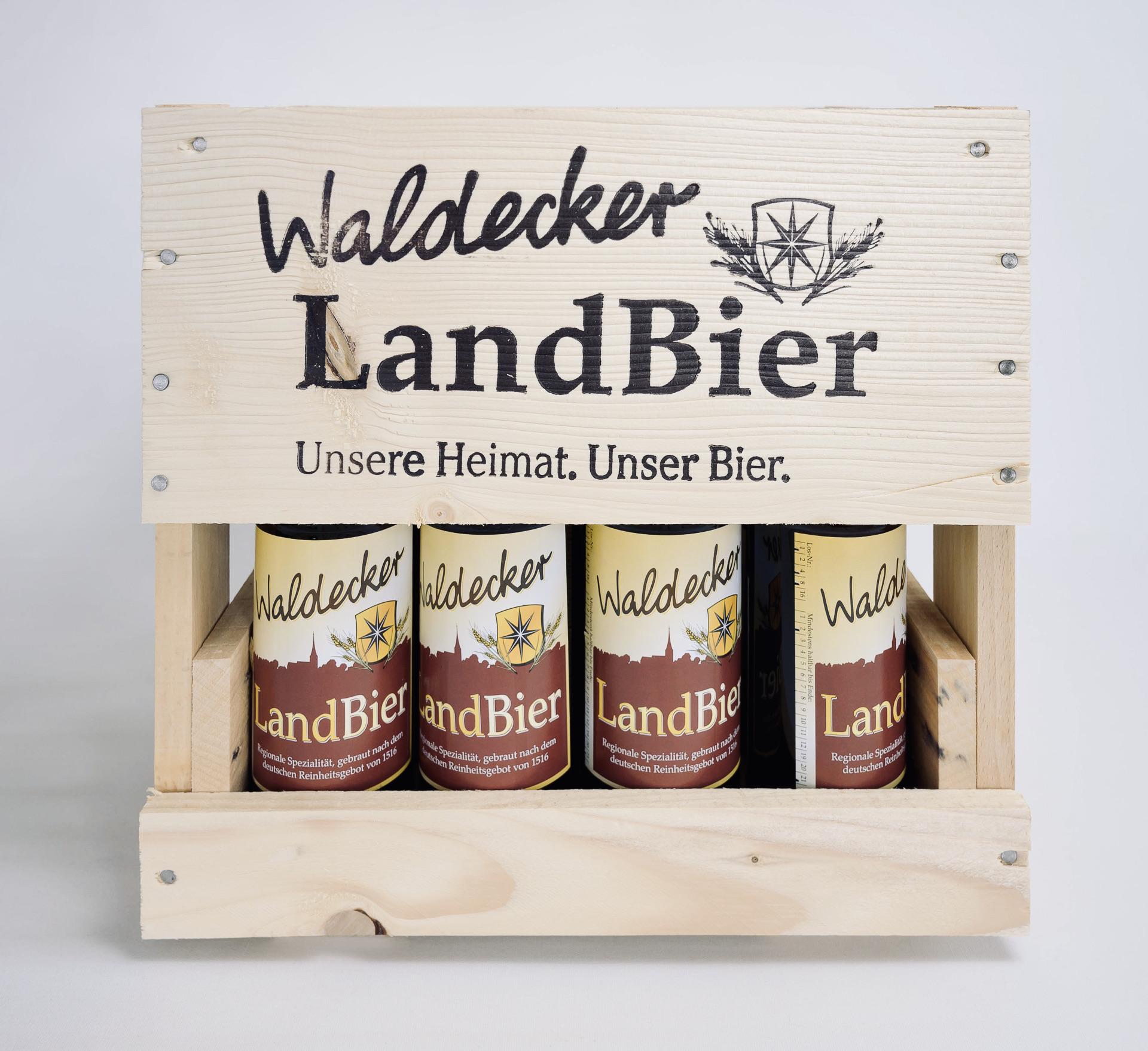 Waldecker Landbier, Bierkiste, Holzkiste