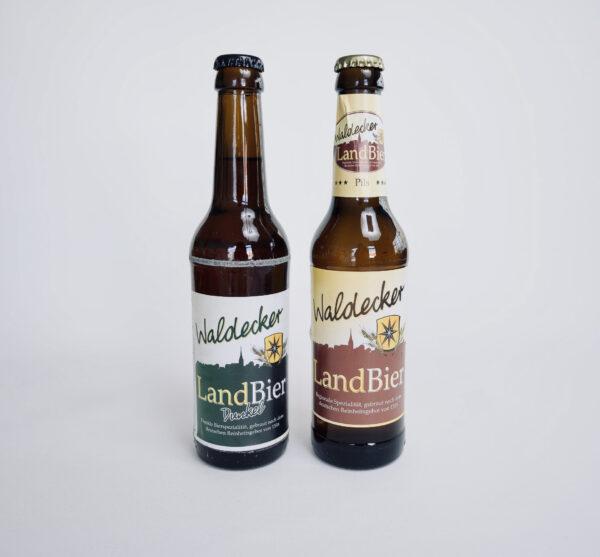 Waldecker Landbier Dunkel, Waldecker Landbier Pils, Waldecker Landbier, Flaschenbier