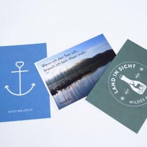 Postkarten Waldeck Edersee, Waldeck Souvenir, Souvenirs