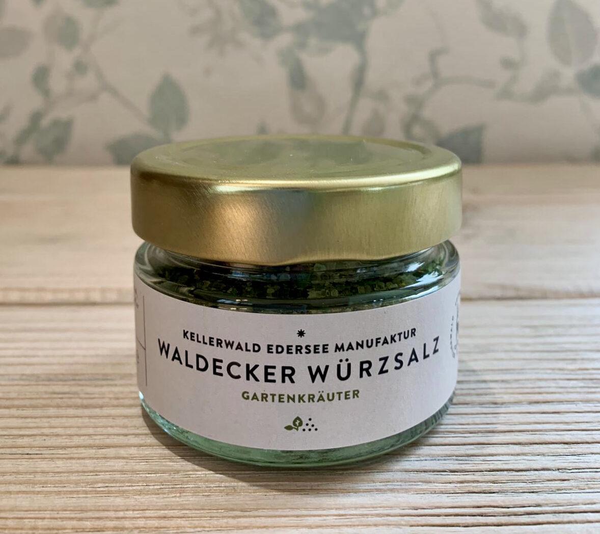 Kellerwald Edersee Manufaktur, Waldecker Würzsalz, Salz, Speisesalz, Gartenkräuter